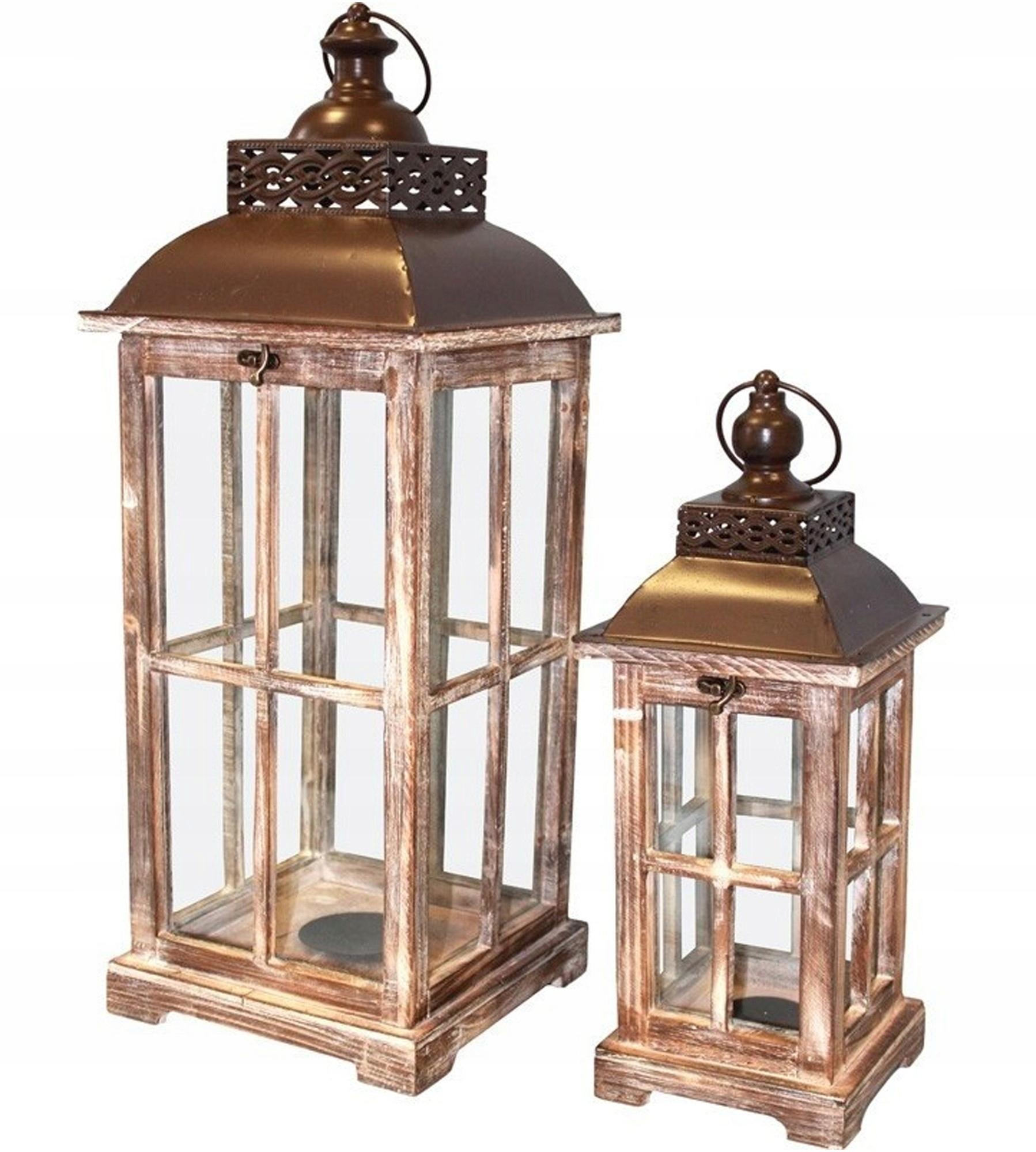 Svietidlá svietidla drevené hnedé nastaviť. 2 ks retro