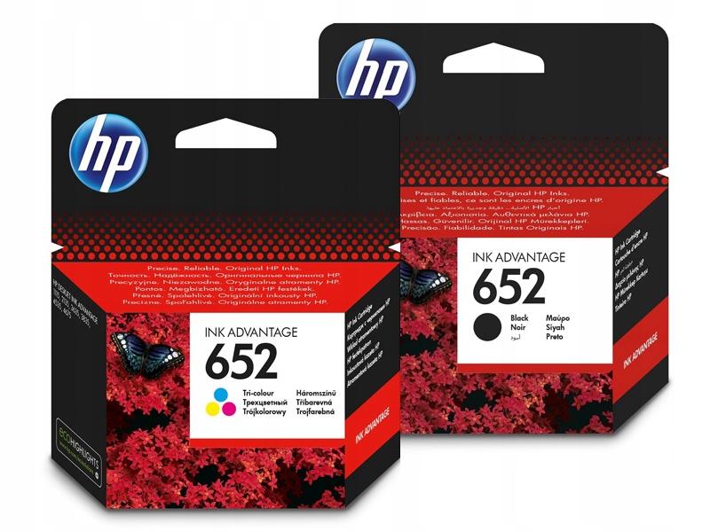 Набор чернил 2x HP 652 черный F6V25AE цвет F6V24AE