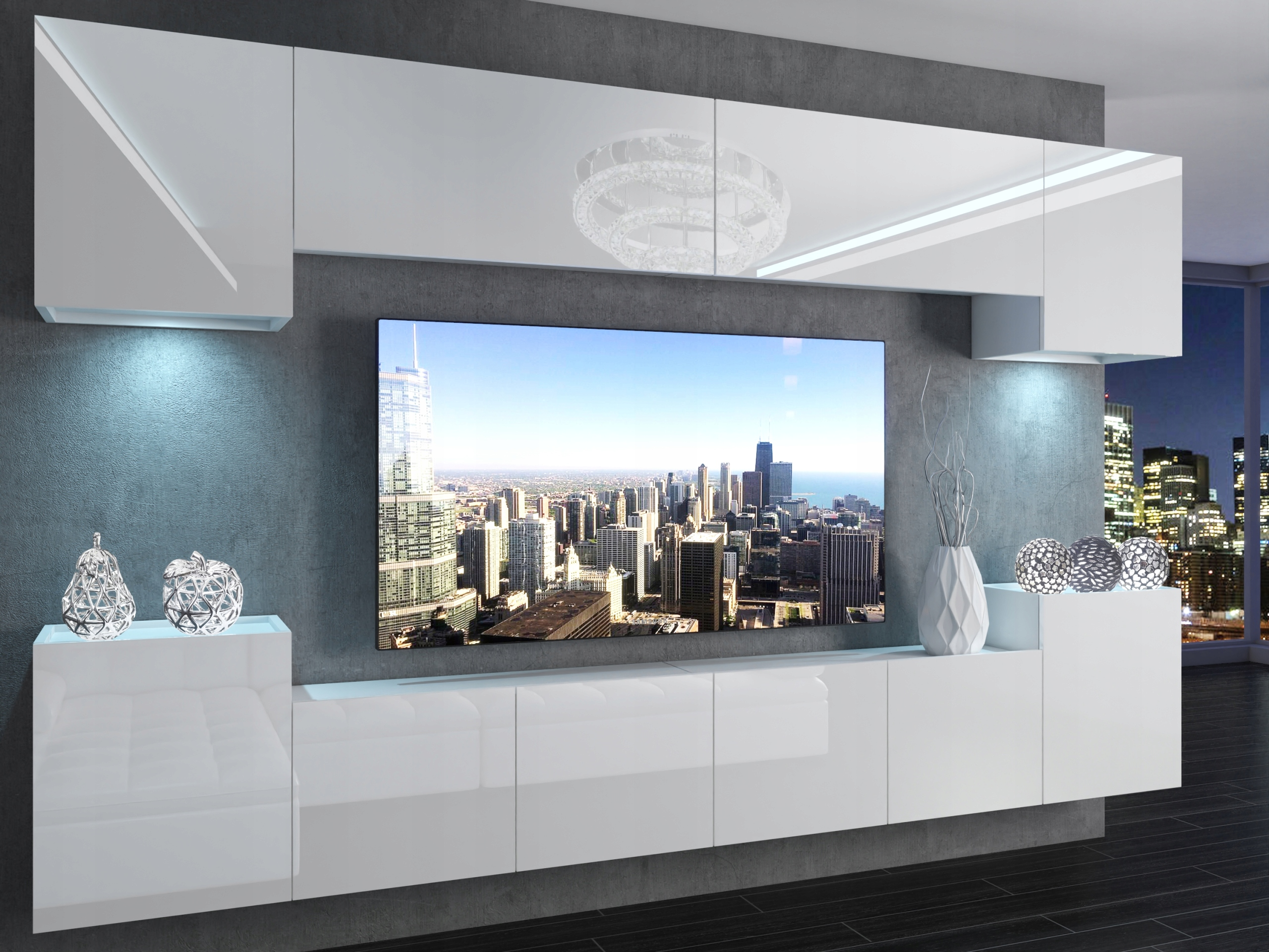 Белая стенка.Мебель для гостиной.