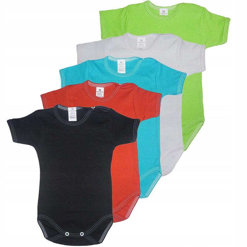 Kombinéza krátke rękawek 5 Ks farebné bavlna R. 86