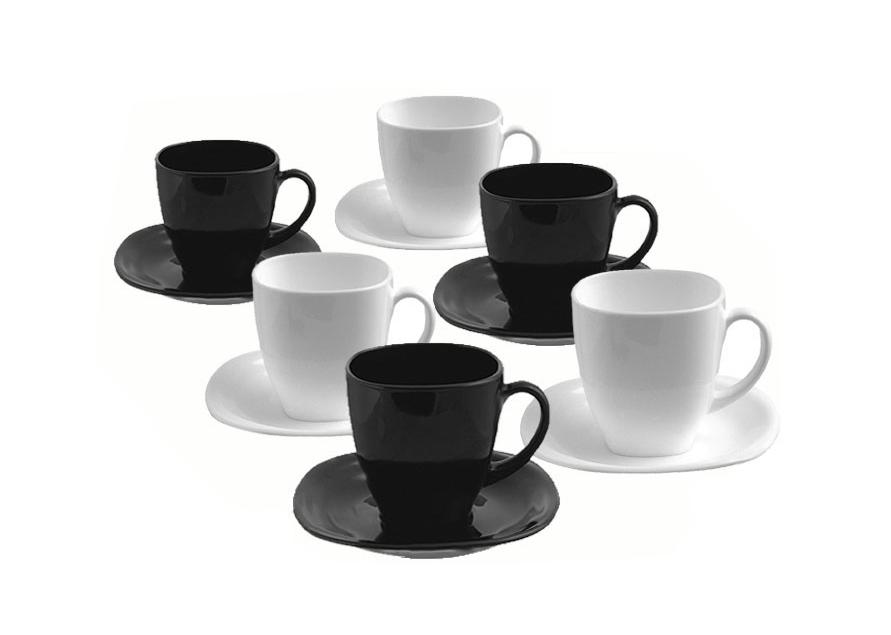 Luminarc Coffee Set Carine 22 biela / čierna WWA