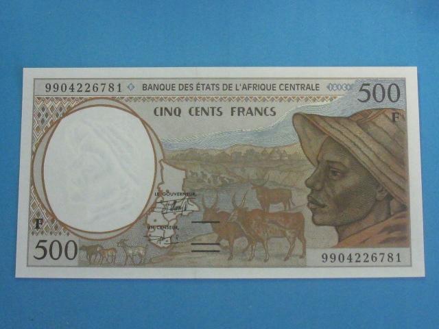 Afryka Centralna 500 Francs 1999 ! UNC P-301F