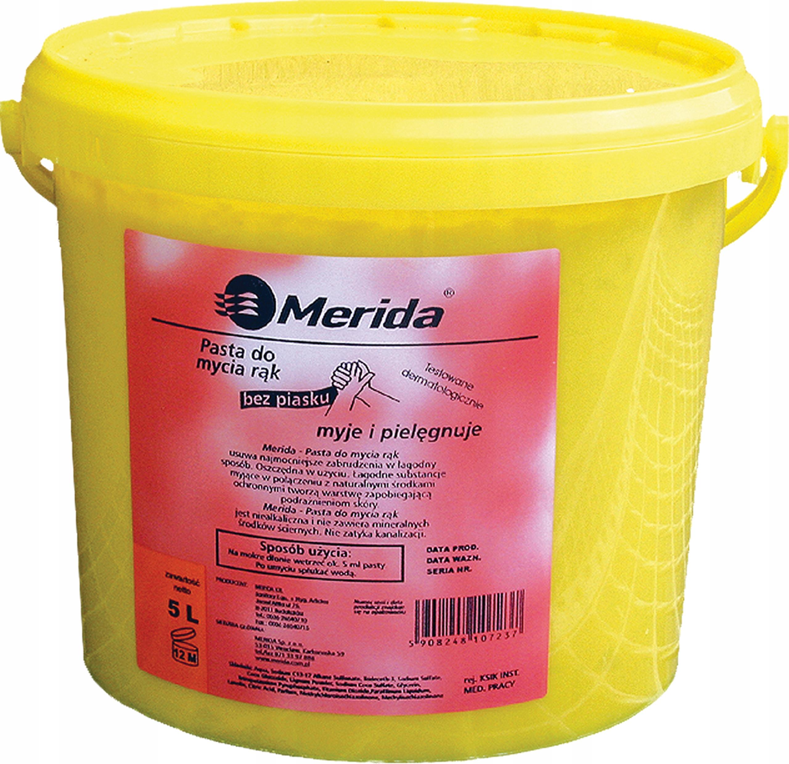 MERIDA Паста для рук сильные загрязнения 5Л