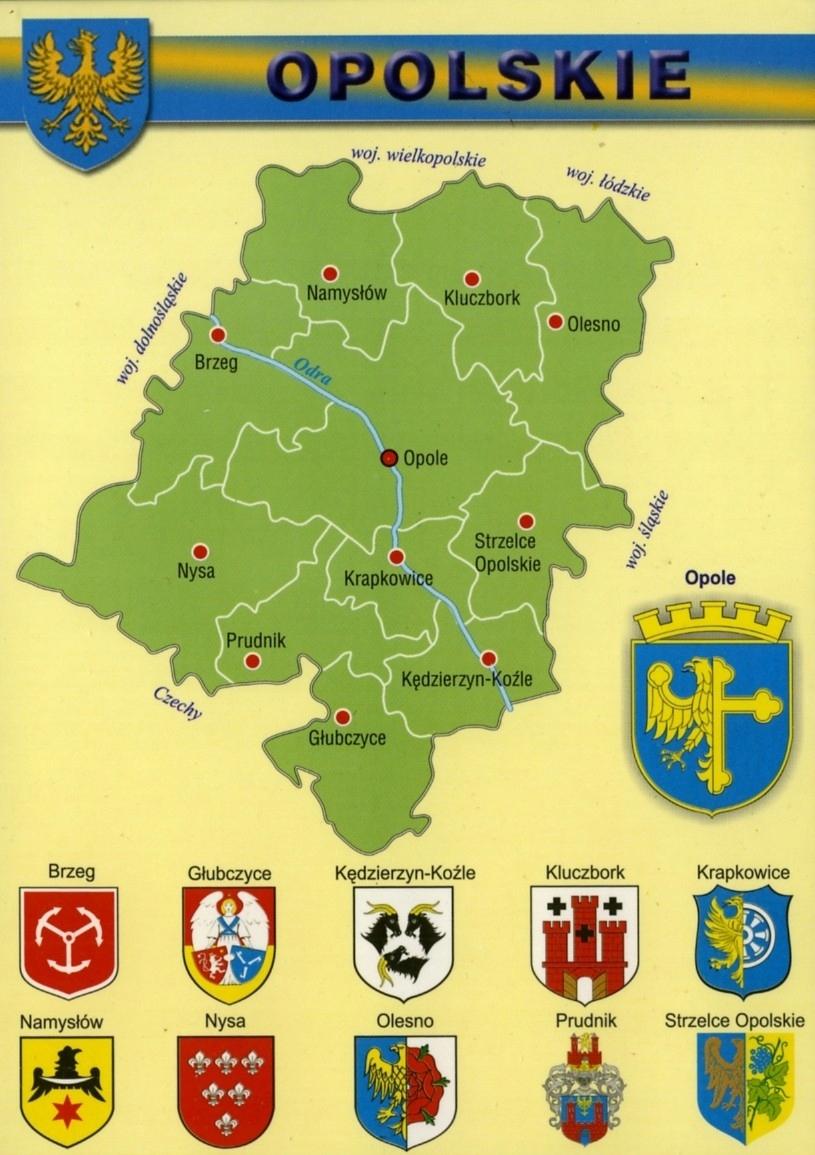 Купить ОПОЛЬСКОЕ ВОЕВОДСТВО КАРТА, ГЕРБЫ 10шт. WR807 на Otpravka - цены и фото - доставка из Польши и стран Европы в Украину.