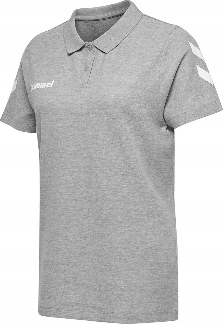 Hummel Dámske tričko Polo bavlna šedá veľkosť M