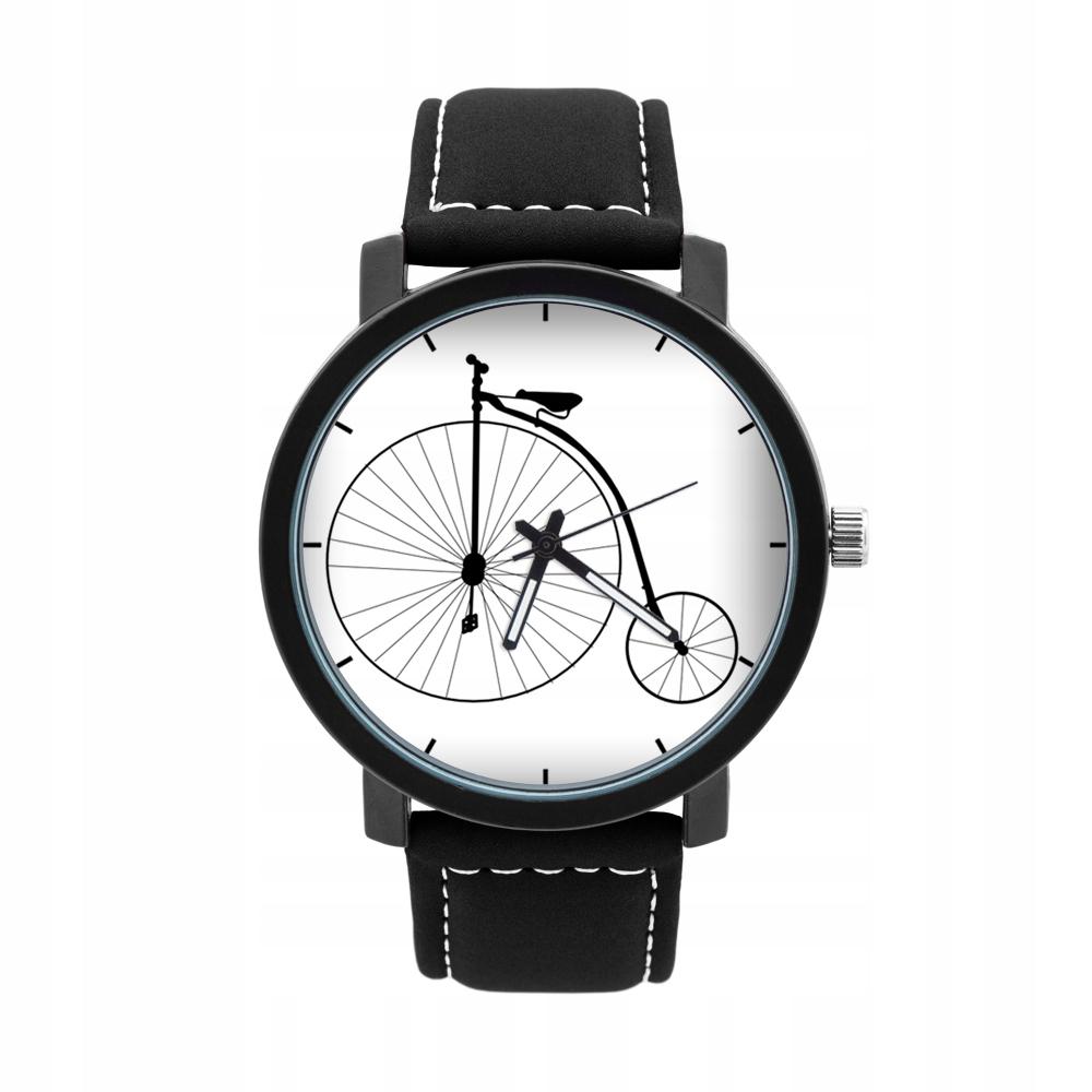 Pánske hodinky s grafickým kolieskom na bicykel RETRO BIKE