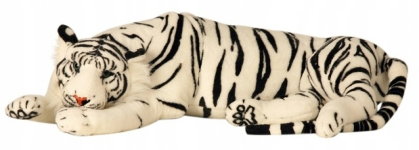 WHITE TIGER LYING BIG MASCOT LIVE 90 + 50 cm