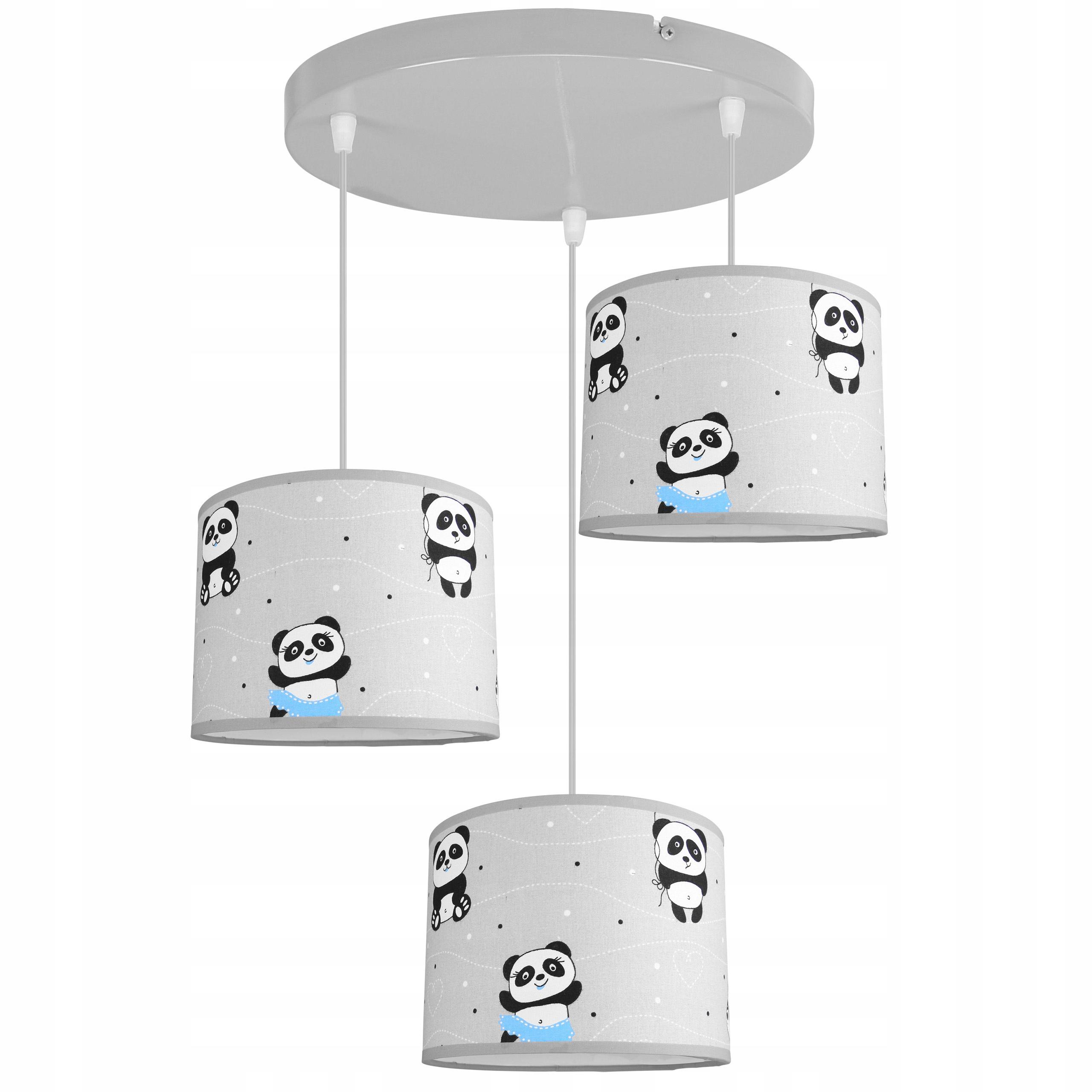 LAMPA SUFITOWA WISZĄCA ŻYRANDOL DZIECIĘCA ABAŻUR