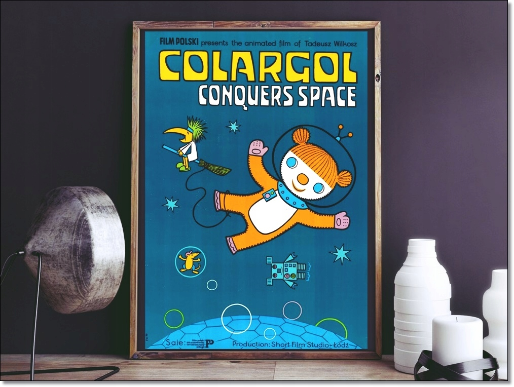 Duży plakat COLARGOL retro styl PRL dobranocka HIT
