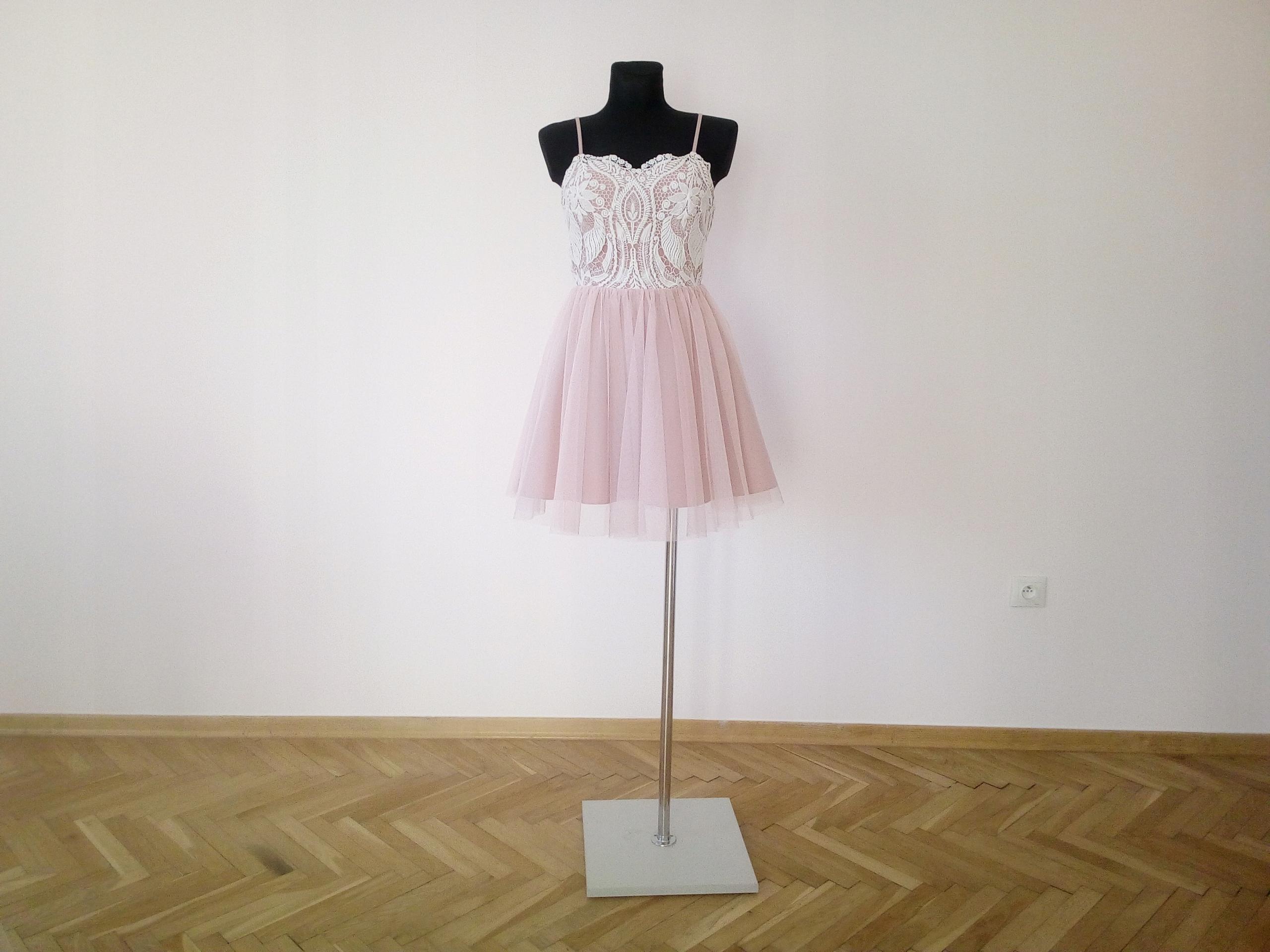 Sukienka damska wesele Sylwestra 38 M Róż J.NOWA