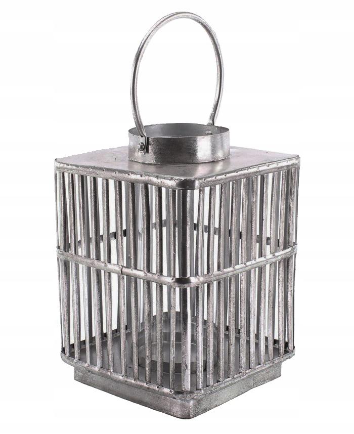 Lantern štýl priemyselné kovové strieborné XL