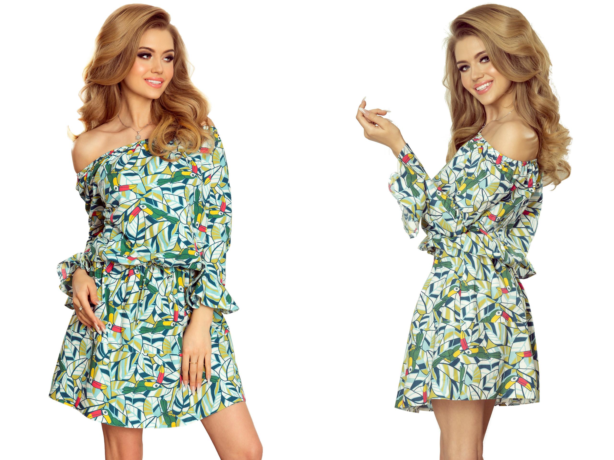 83d7278a16 Sportowe Sukienki Z Marszczeniem w Pasie 198-4 XL 7414664419 - Allegro.pl
