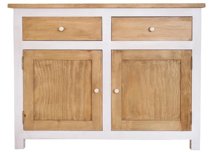 Rustikálna komoda, voskovaná, retro nábytok NOVINKA