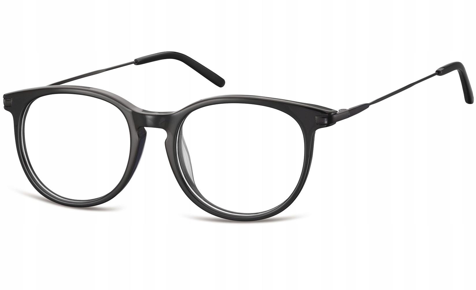 Okulary zerówki z antyrefleksem okrągłe Vinted