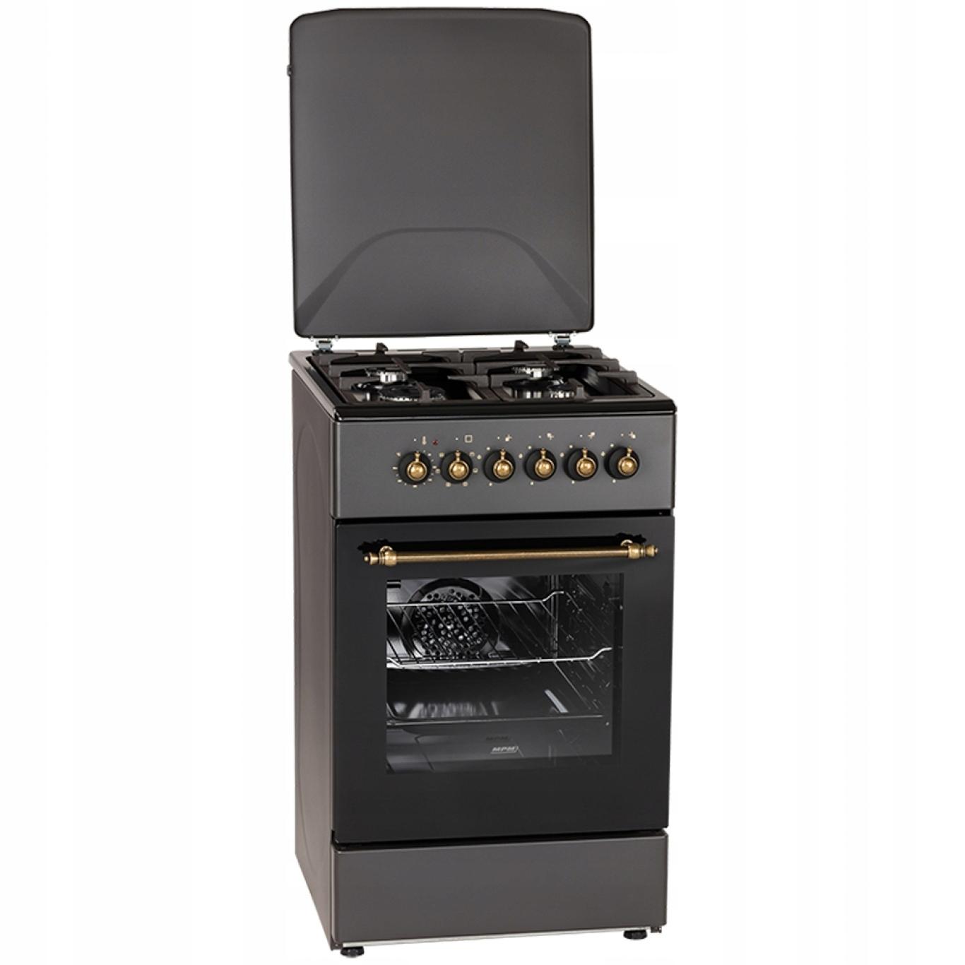 Retro kuchyňa plyn-Comte MPM-154-KRM13 hrubé bary
