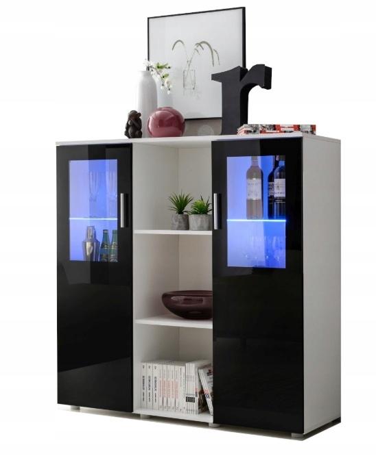 Большой комод для гостиной, шкаф Gloss + LED