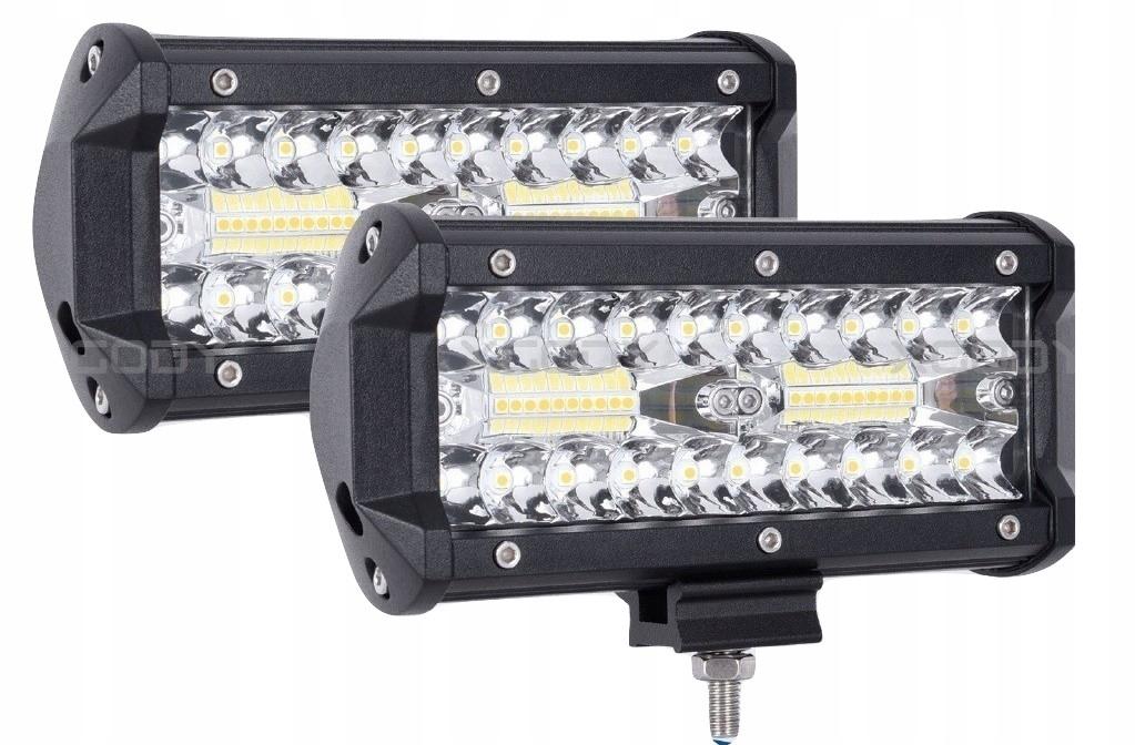 Комплект 2 галогенных светодиодных рабочих фонаря - 120 Вт 10-48 В