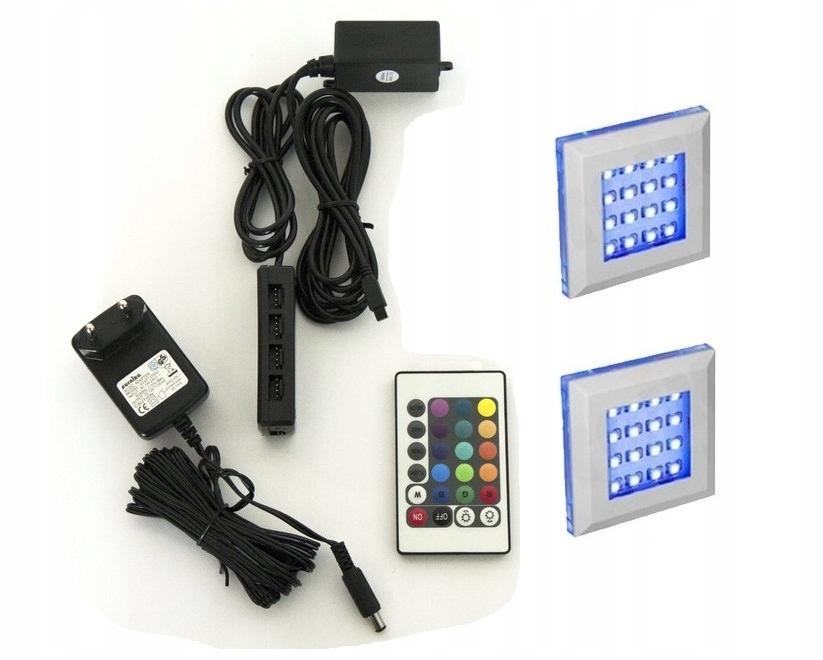 1 bodové LED osvetlenie SQUARE RGB + diaľkové ovládanie