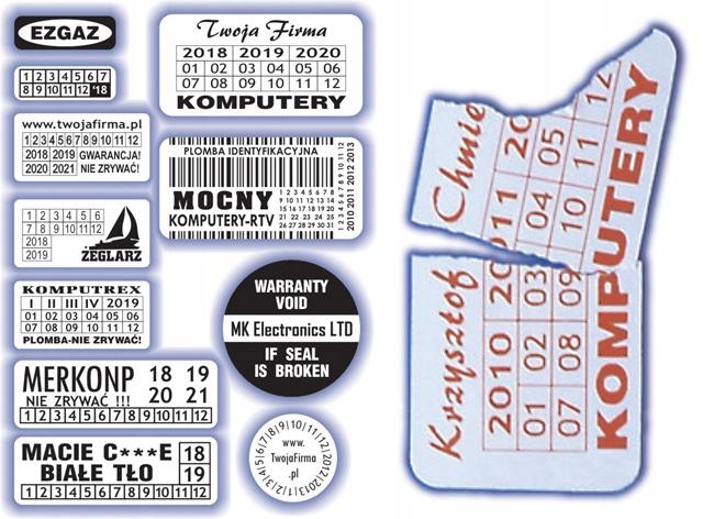 30x15 Plomby gwarancyjne Kruche / 210 - ArtComp