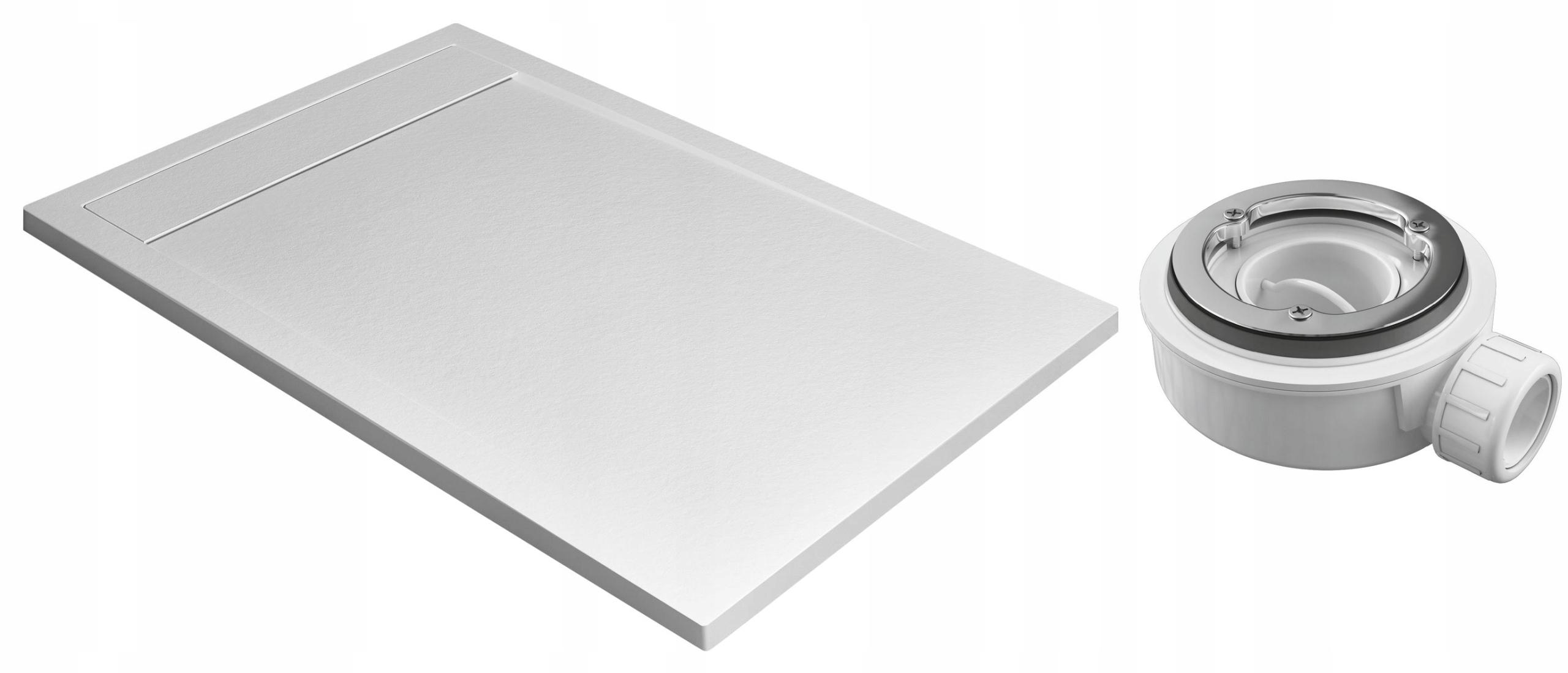 Radaway Zásobník obdĺžnikový TEOS F 140x80 biela