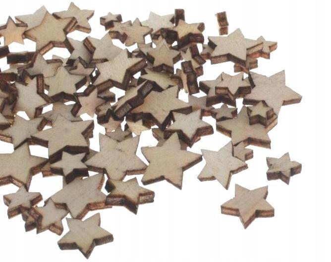 Drewniane gwiazdki do dekoracji świątecznych 100