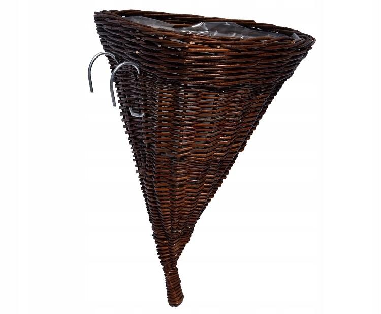 Купить Корзина рог плетеный с крюками на цветы для сада на Otpravka - цены и фото - доставка из Польши и стран Европы в Украину.