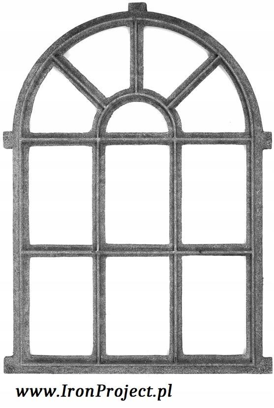 NOVÉ okná, liatinové semi-circular, retro 67x94cm