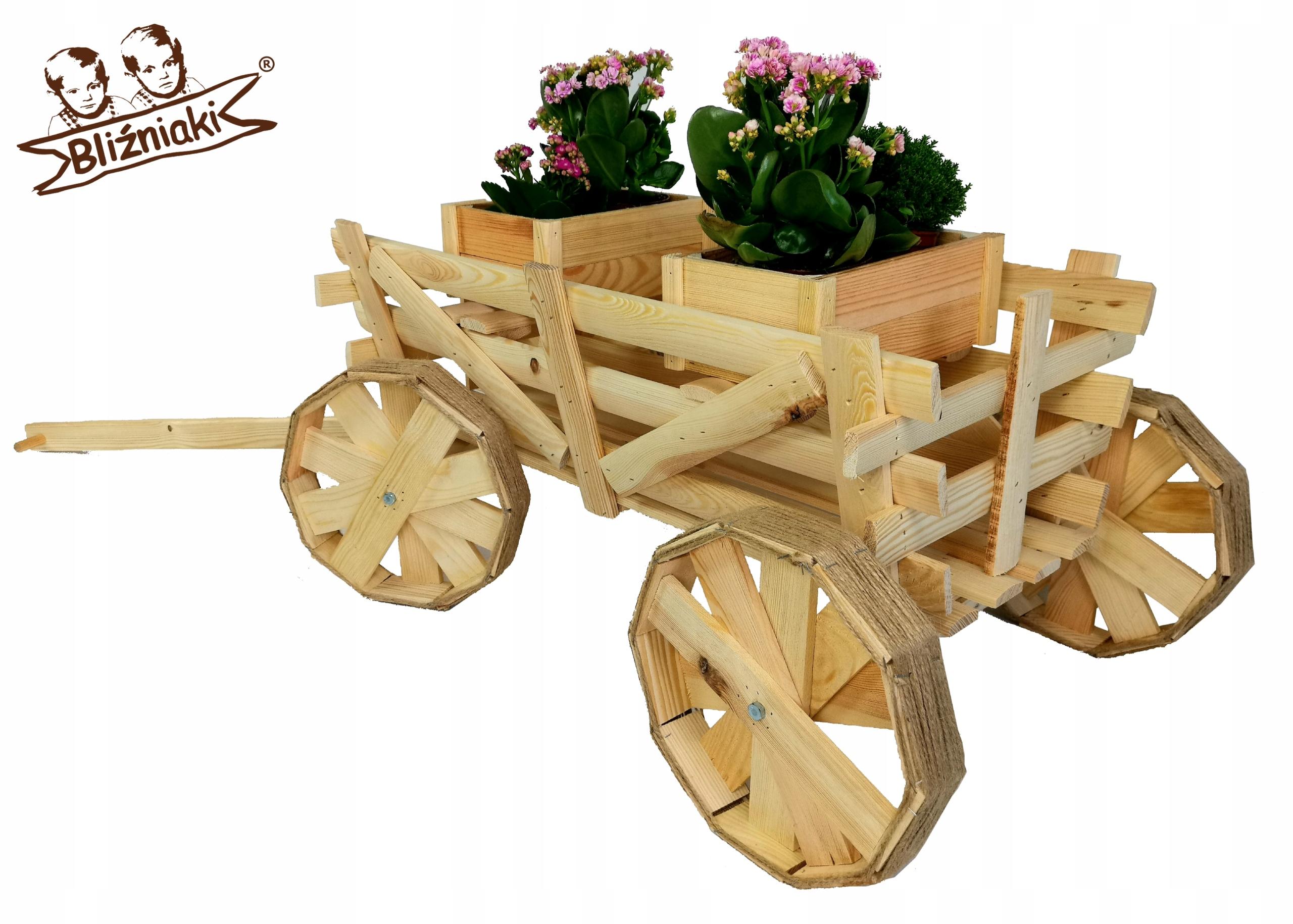 Dekoratívne drevené VOZEŇ DRABINIASTY Flowerbed 167cm