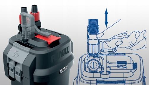 FLUVAL 307 внешний фильтр 1150L / h 15W ++бесплатно! Минимальная производительность 0 л / ч