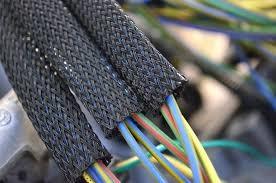 Оплетка на кабели оплетка кабеля ПЭТ-8-20 мм ЧЕРНЫЙ