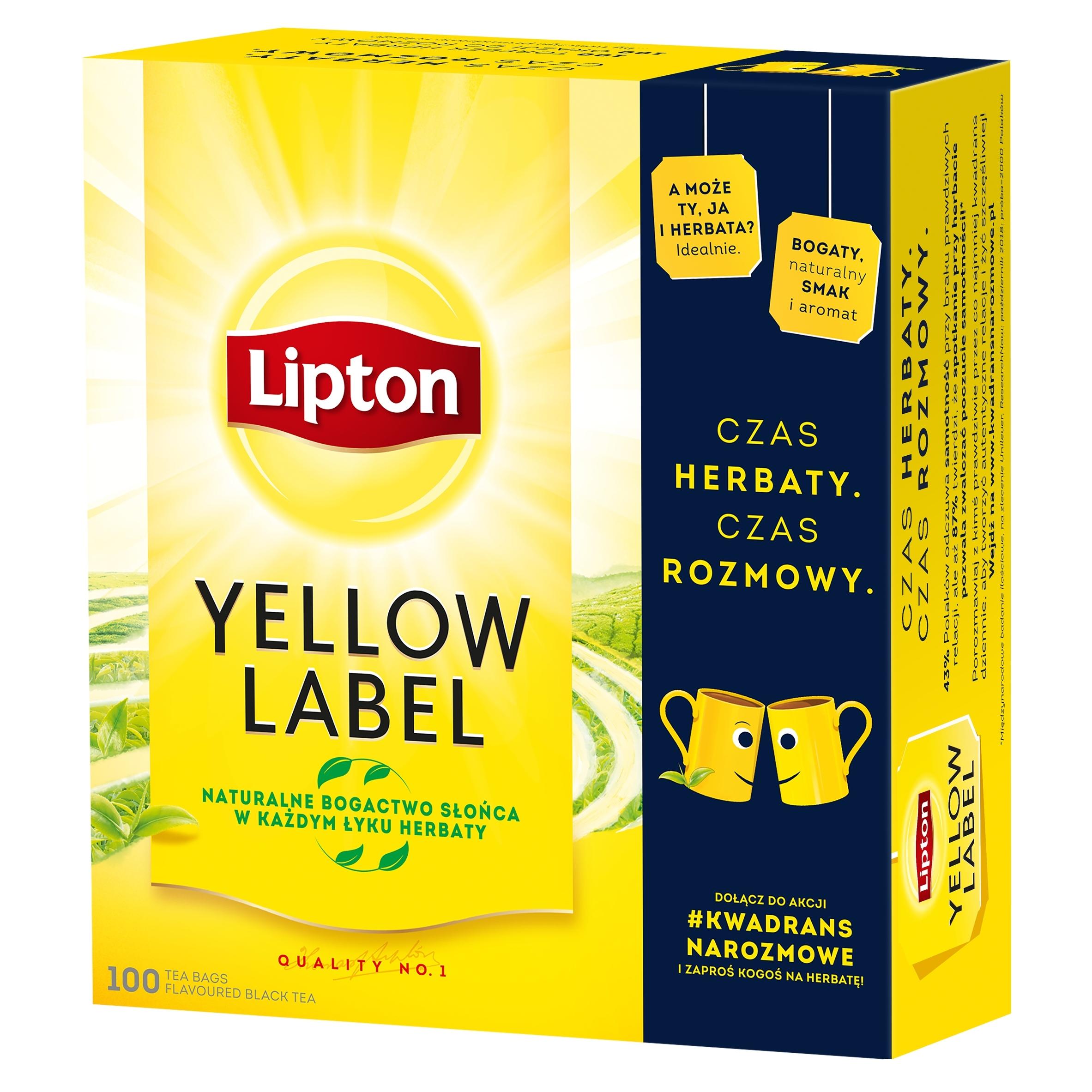 Черный чай Lipton Yellow Label 100ex 200г
