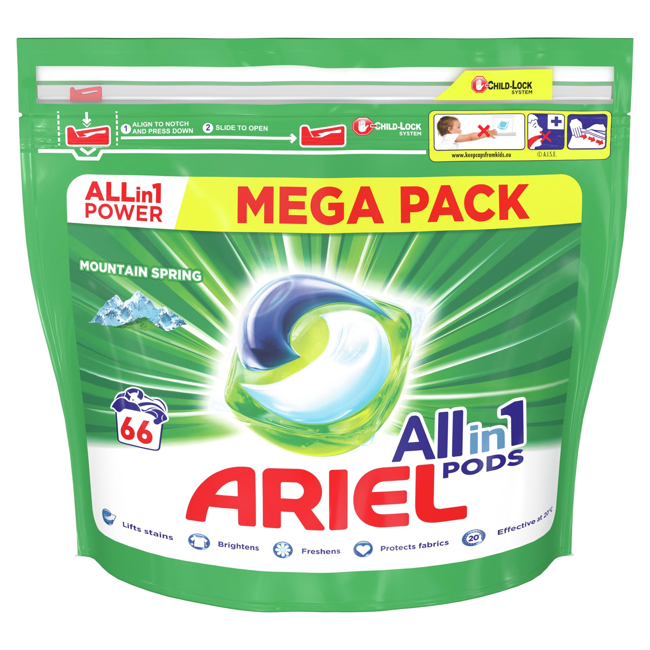 Ariel kapsułki do prania Mountain Spring 66 szt