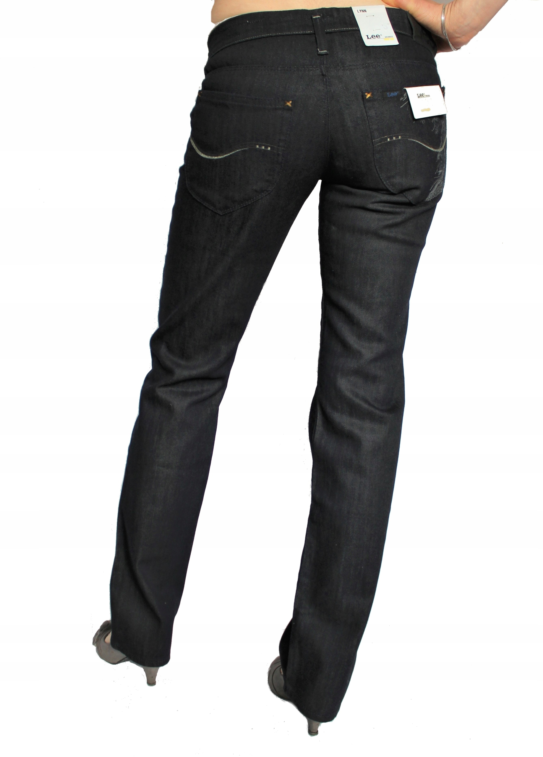 Lee Lynn Straight spodnie biodrówki W25 L33 Xs / S
