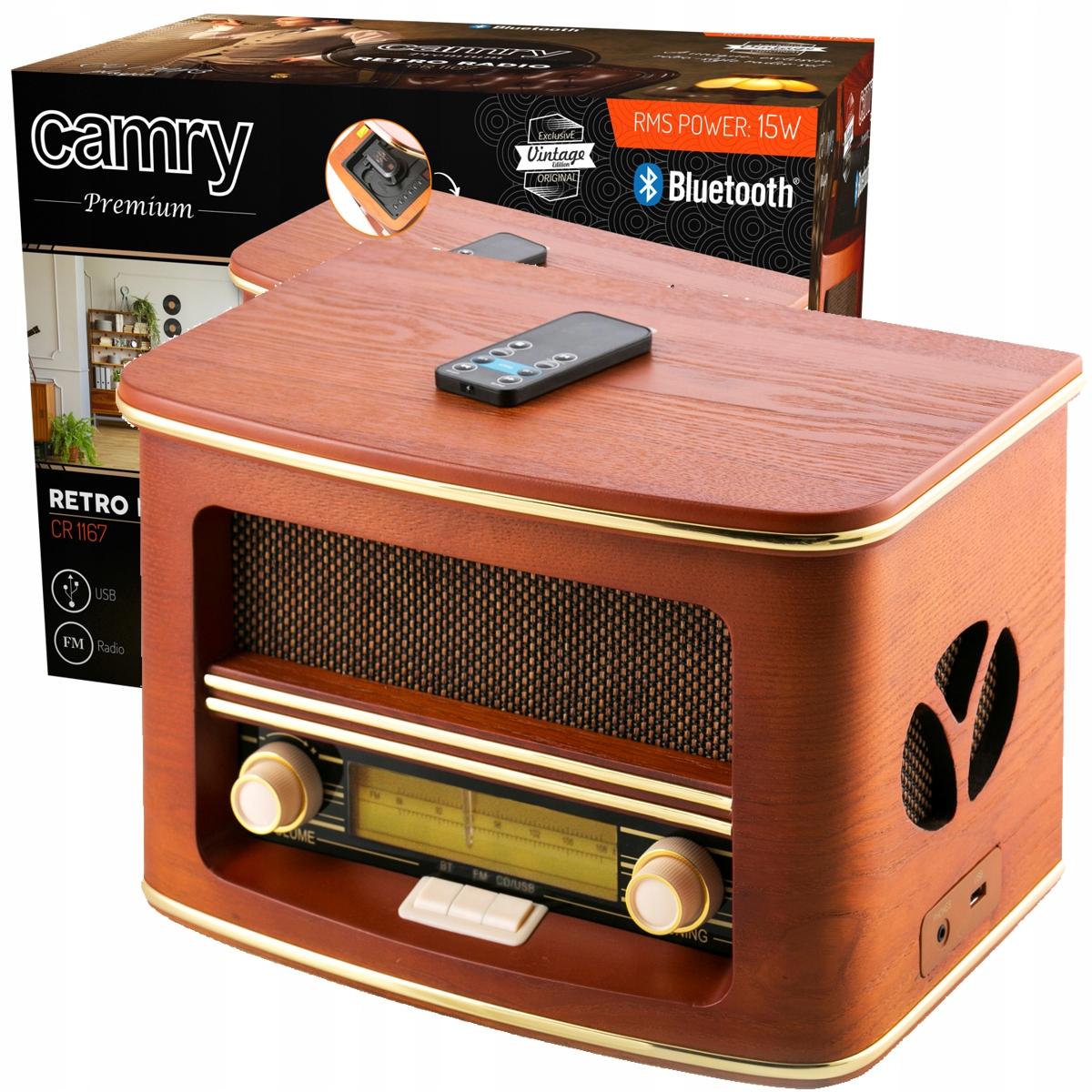 ŠTÝLOVÉ RETRO RÁDIO CR1167 CD, FM, USB, BLUETOOTH