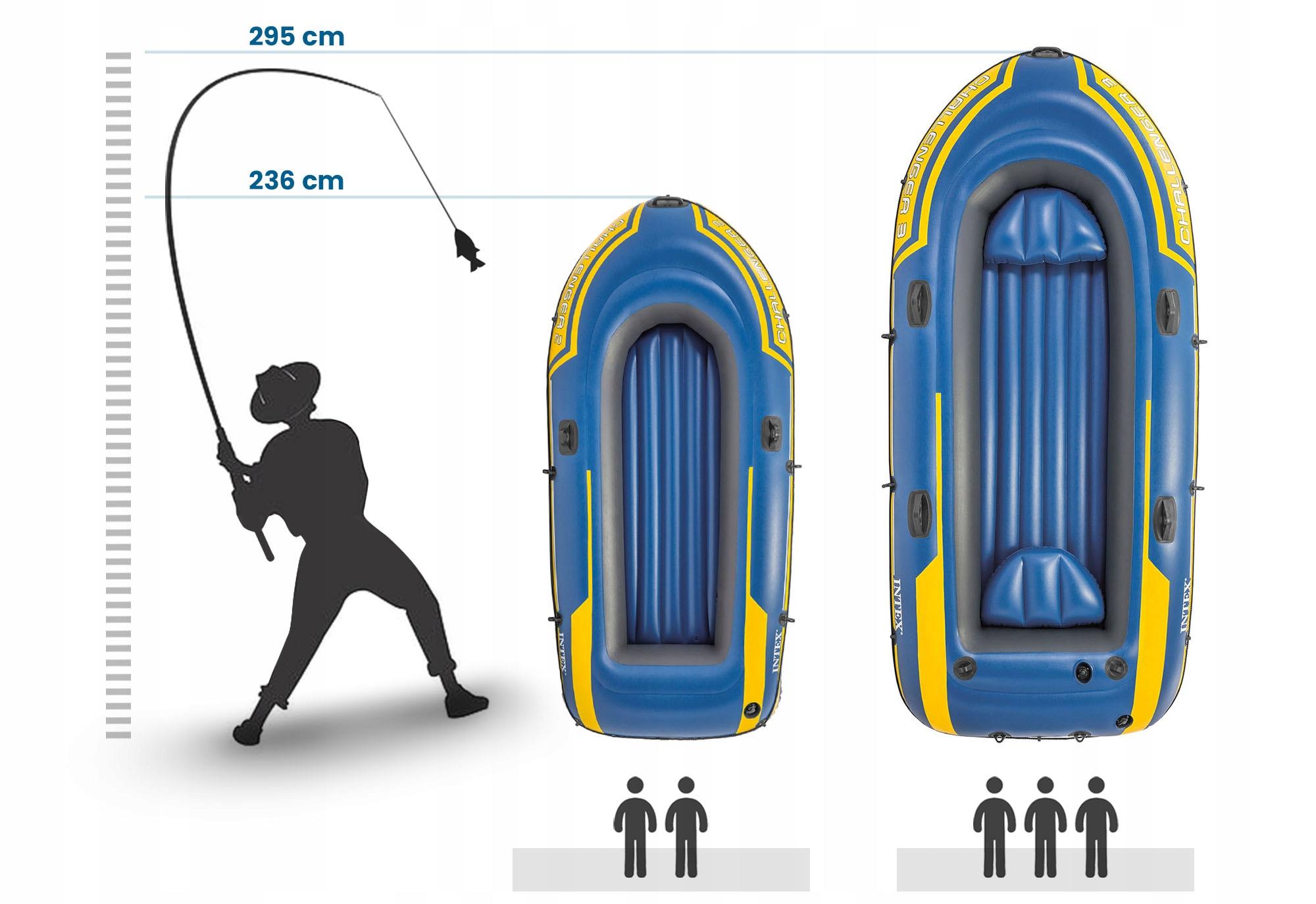 PONTON CHALLENGER 2 + ЛОПАТЫ + НАСОС INTEX 68367 Материал лопастей: пластик