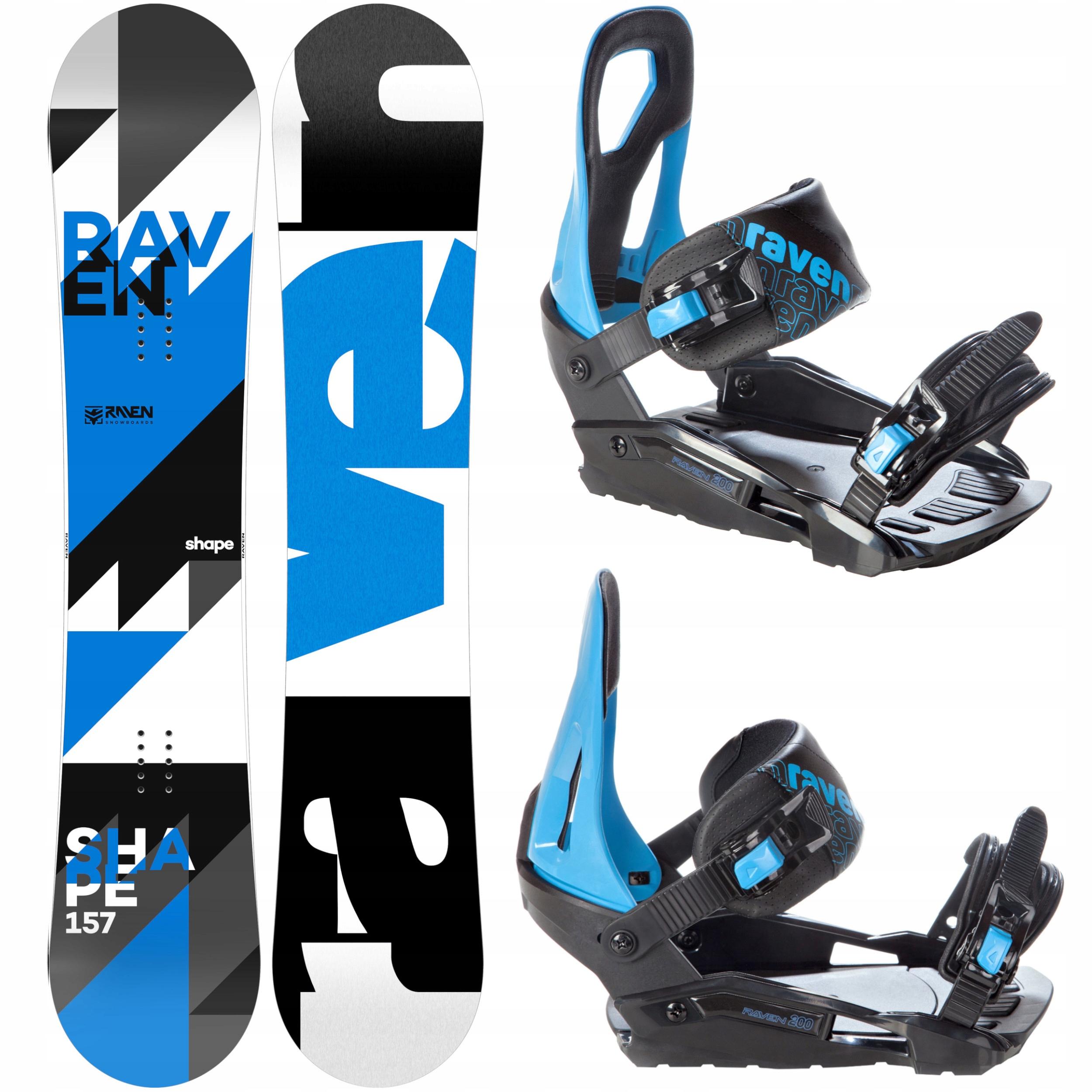 Snowboard RAVEN Tvar 158 cm Široké+ Záväzné S200