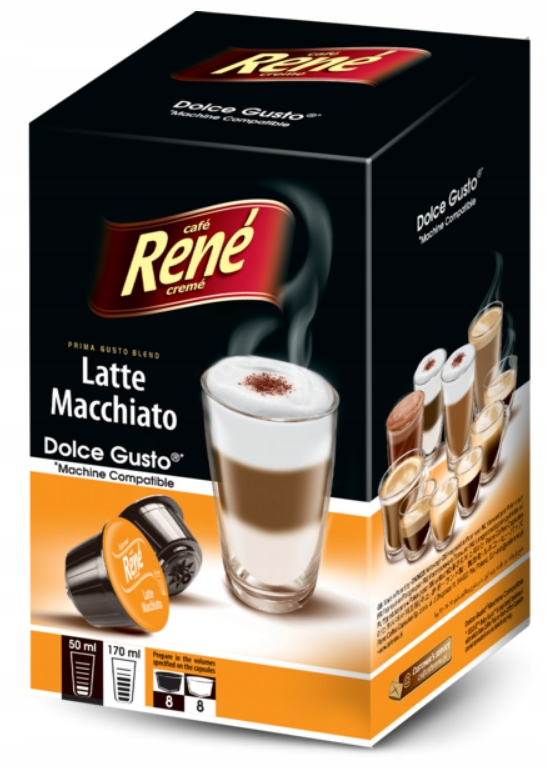 Rene капсулы Dolce Gusto Латте Макиато 16 штук