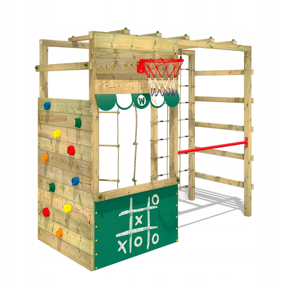 WICKEY Smart Action drewniany plac zabaw zielony