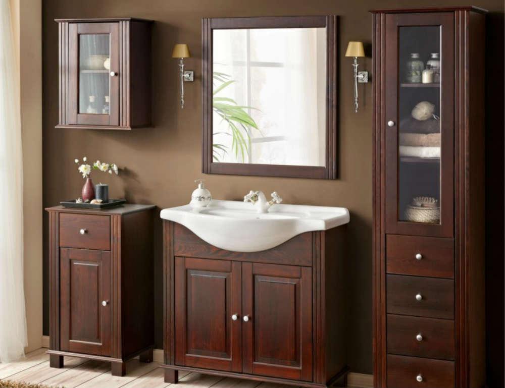 RETRO zostava kúpeľňový nábytok + umývadlo 85