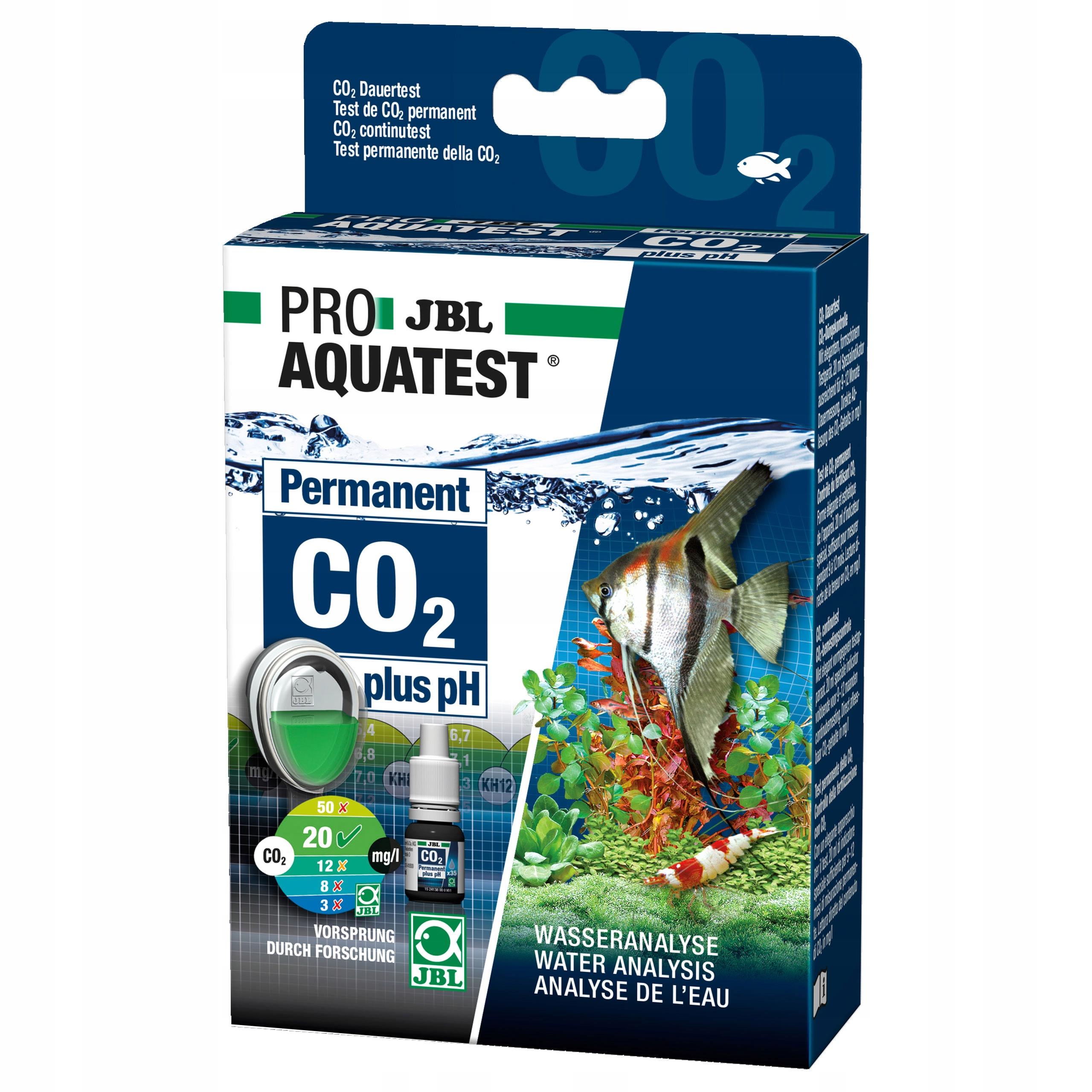 PROAQUATEST JBL CO2 pH Trvalé test Set 2