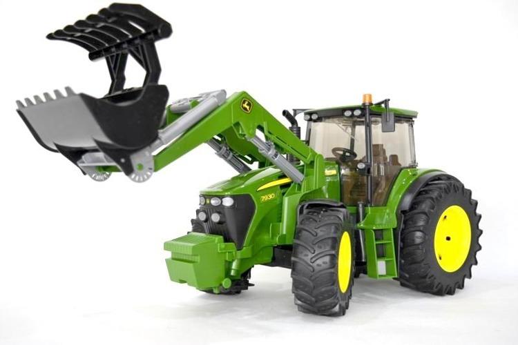 BRUDER 03051 traktor John Deere z ładowaczem