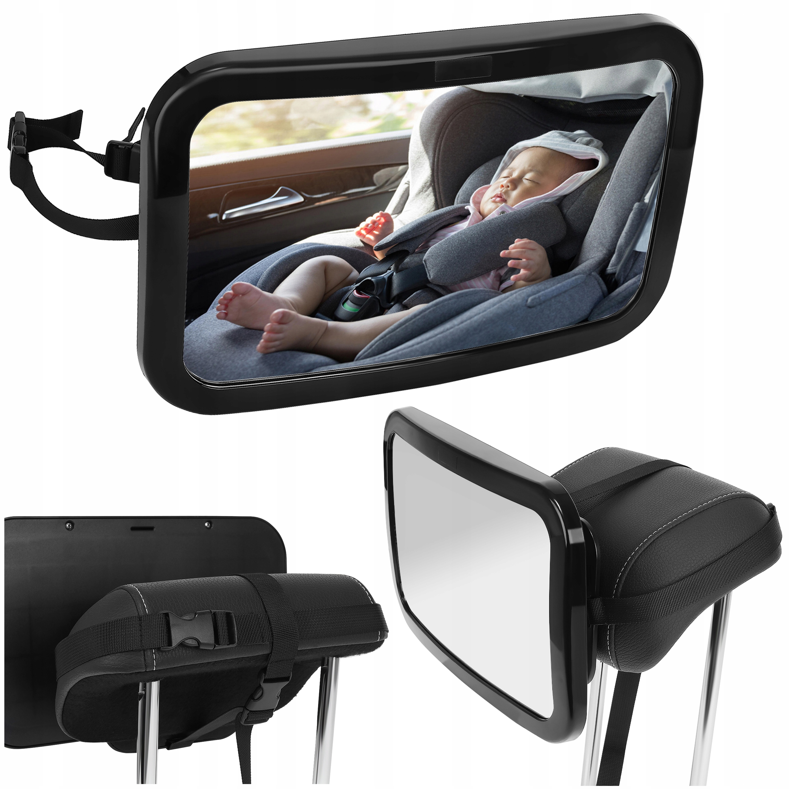 Зеркало заднего вида для детского автомобильного путешествия 360