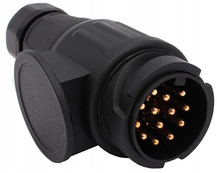 Купить Вилка прицепа 13 pin 12V адаптер на Otpravka - цены и фото - доставка из Польши и стран Европы в Украину.