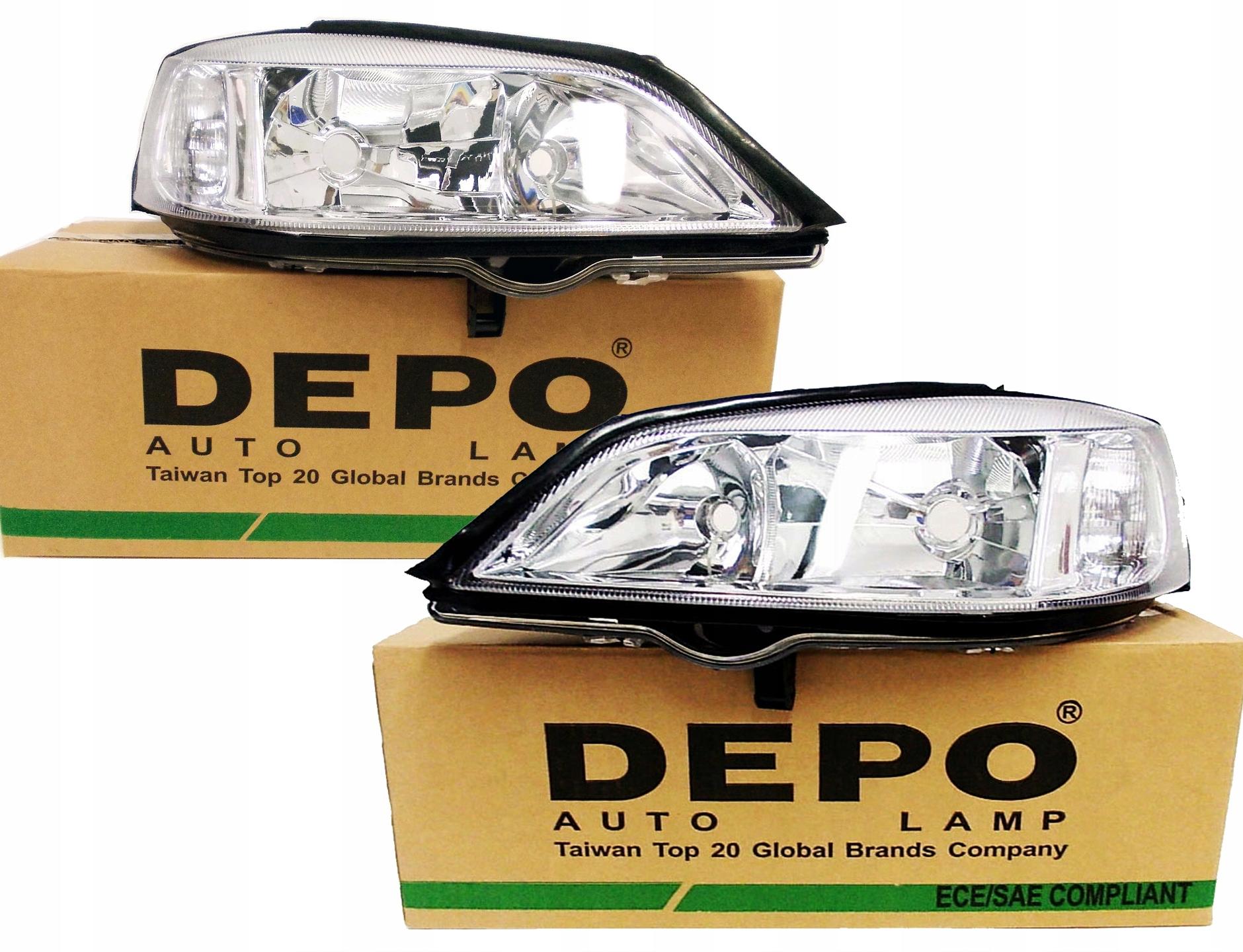 лампы фары новые opel astra ii 2 g depo l+p