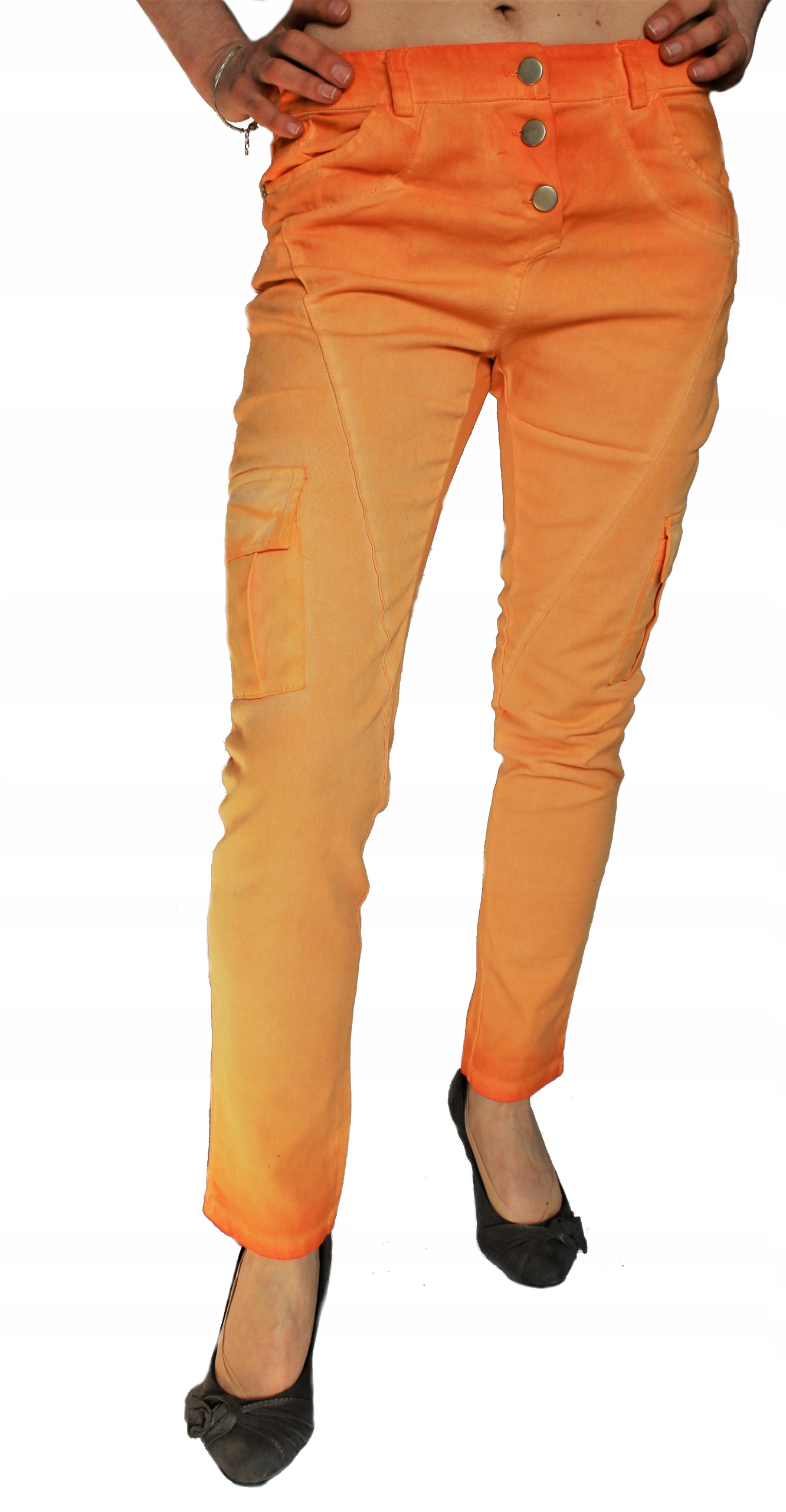 Rainbow Cropped spodnie bojówki Made In Italy 38 M