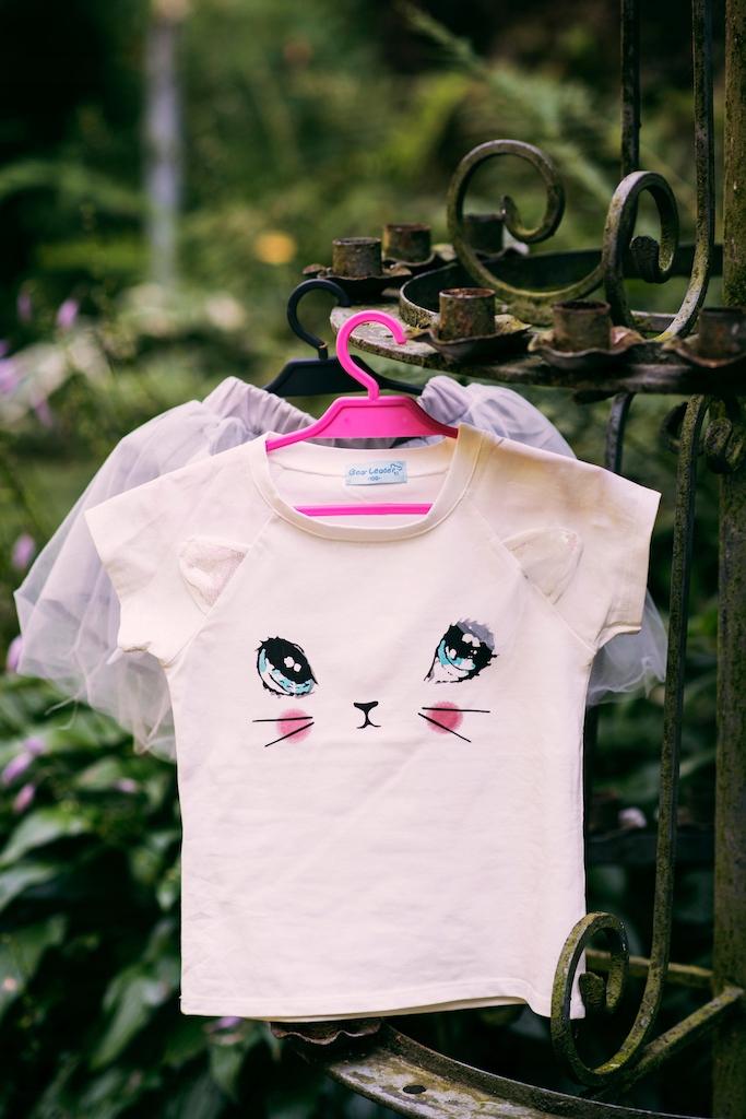 Zestaw dla dziewczynki kotek tiul lato różowa 130 Wiek dziecka 6 lat +