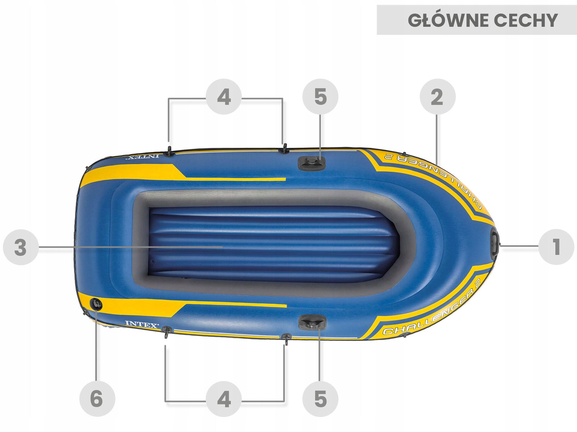 PONTON CHALLENGER 2 + НАСОС + НАСОС INTEX 68367 Возможность установки двигателя нет