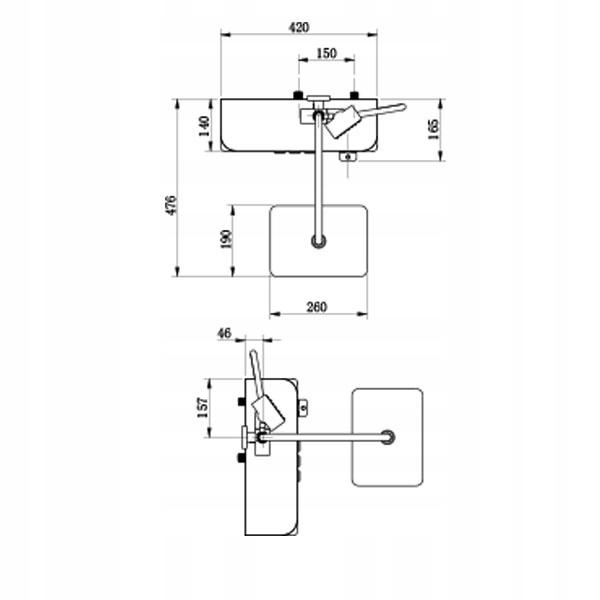 a0d9b9b34b3e8b70f32df05ab11c Bateria natynkowa prysznicowa TSM400