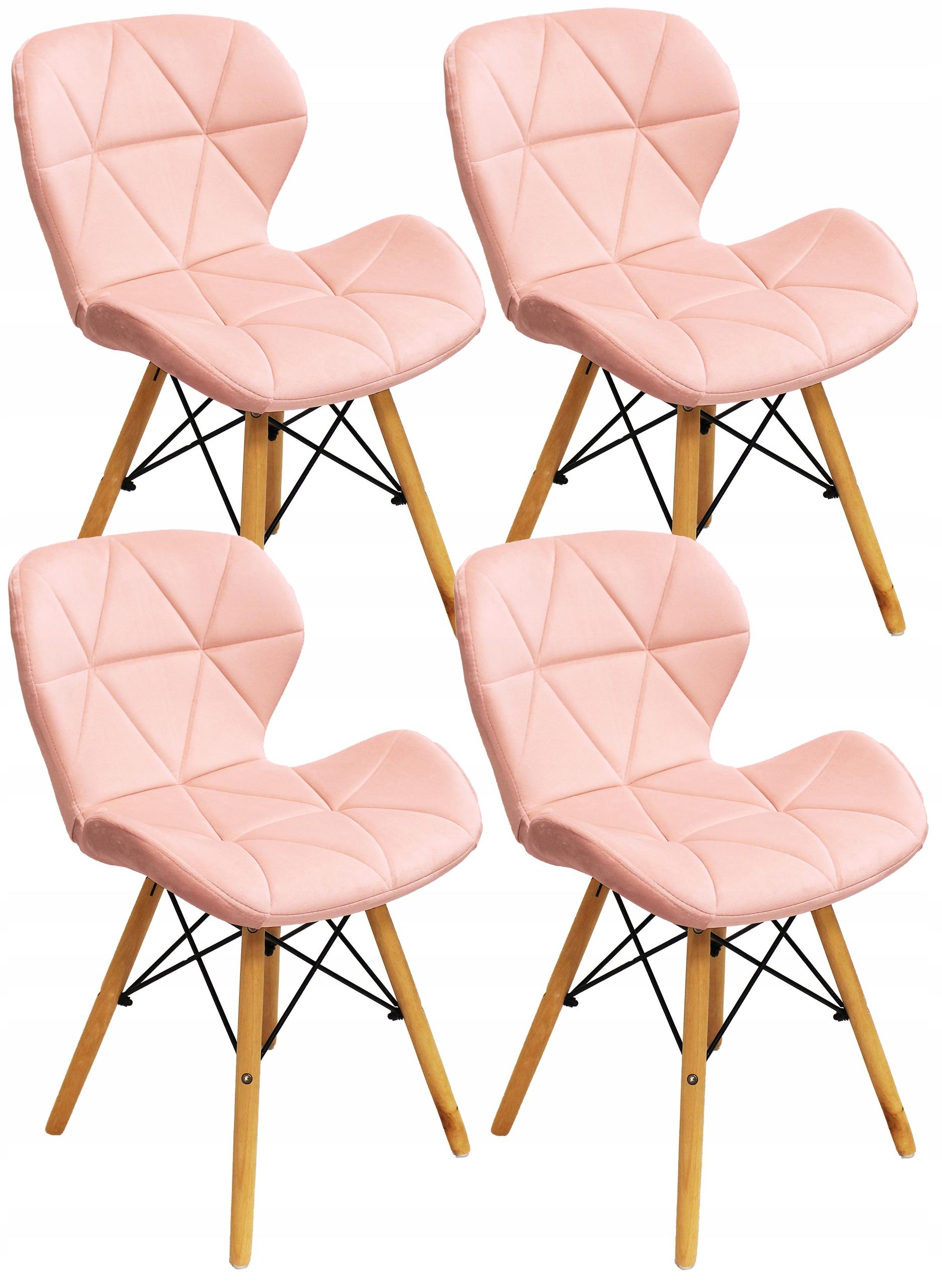 4x Nordic VELÚROVÉ Stoličky DSW obývacia izba Jedáleň