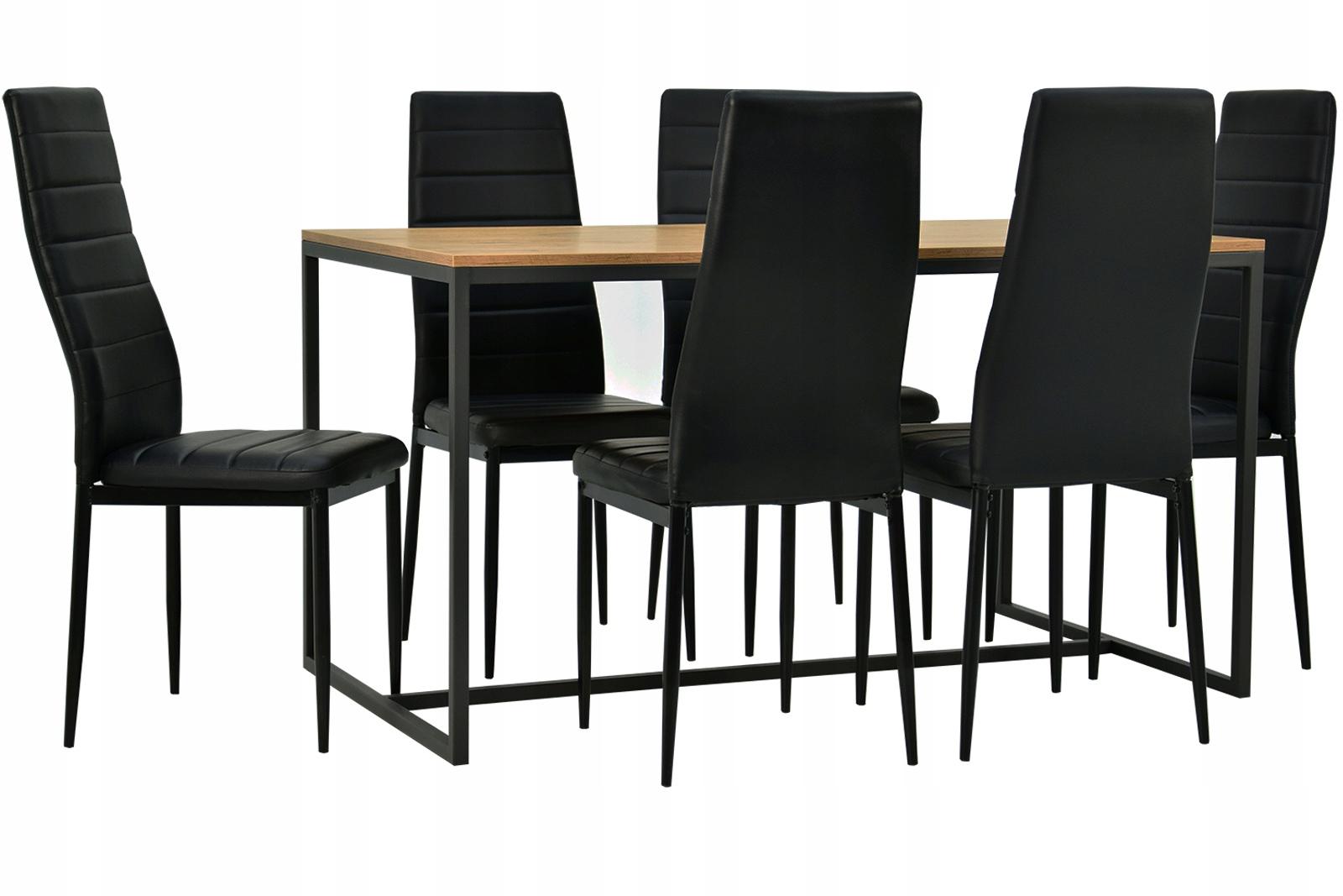 Купить КОМПЛЕКТ LOFT обеденный Стол и 6 стульев ЭКО РАЗНЫЕ ЦВЕТА на Otpravka - цены и фото - доставка из Польши и стран Европы в Украину.